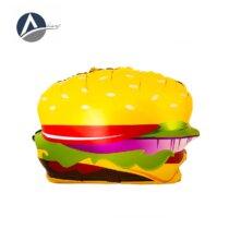 Pizza balloons and hamburgers